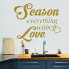Mad Decals Quote Season Everything With Love Decal Kitchen Decor Home Art MA195