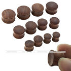 New 00Ga-3/4'' Double Flared Concave Wood Tunnel Ear Expander Plug Body Piercing