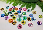 Glass Cabochons ~ Eye Design ~ Dragon / Cat Eyes, Choose Mixed or Pairs / Size
