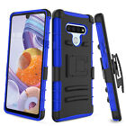 For LG Stylo 5/4/3 Plus Case Hybrid Belt Clip Holster Kickstand Hard Phone Cover