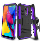 For LG Stylo 6/5/4 Case Hybrid Belt Clip Holster Kickstand Hard Back Phone Cover