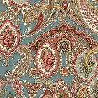 ESSEX - PACKED PAISLEY ON BLUE - QUILTING TREASURES - 100% cotton fabric