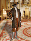 Baroque or Renaissance Style Royal Frock Coat in Baroque Damask Handmade