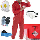 Asbestos Removal Pack Kit - Red Coverall, Disposal Bags, Mask, Gloves, Goggles