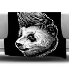 East Urban Home Funky Panda Fleece Throw Blanket