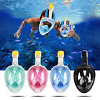 Swimming Snorkel Full Face Anti-Fog Mask Full Dry Diving Mask With Mount US Ship