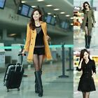 1 Pc 5 Colors Lady Gift Long Slim Fit Windbreaker Dust Coat Wind Coat M/L/XL/XXL