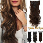 100% Real as remy human Hair Clip in Full Head Hair Extensions Blonde Synthetic
