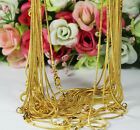 "Women/men 20pcs/lot 1.2mm Gold Plated Snake Chain Necklace Jewelry 16""18""20""24"""