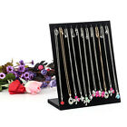 Black Velvet Necklace Chain Jewelry Display Holder Stand Easel Organizer Rack Gw