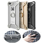 For iPhone 6 6s 7 Plus Metal Bumper Frame Case Cover With Grip Ring Holder Stand