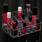PA Clear Acrylic 24 Lipstick Holder Display Stand Cosmetic Organizer Makeup Case