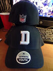 "Dallas Cowboys NFL ""D"" Logo Authentic Team Apparel Stretch Hat Cap Youth Adult S"