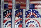 PATRIOTIC FLAG BANNERS & BUNTINGS 12' w 8 Flags/Bunting  Plastic SELECT: Style