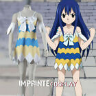 Fairy Tail Wendy Marvell Debut Dress Cosplay Costume Full Set FREE P&P