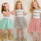 Toddler Kids Baby Girl Princess Dress Recital Pageant Wedding Party Tutu Dresses