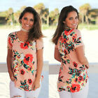 New Women Ladies Summer Floral Tops Casual Blouse Loose Fashion Baggy T Shirt