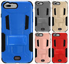 For Apple iPhone 7 & 7 PLUS HYBRID KICK STAND Rubber Case Phone Cover Accessory
