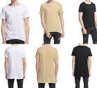 Long Fashion Men's Extended Hip Hop T-Shirt Streetwear Longline Tee Apparel Top