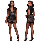 Fashion Clubwear Women Lace V Neck Jumpsuit One Piece Playsuit Hot Romper Shorts