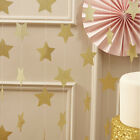 Glitter Gold Silver Stars Circles Heart Party Bunting Banner Birthday Wedding 2M