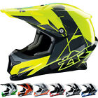 Z1R Rise Graphic Mens Off Road Dirt Bike DOT Snowmobile Motocross Helmets