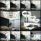 Luxury LED Ceiling Pendulum Hanging Lamp Crystal Chrome Light Sleep Room Hallway