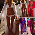 New Women Chiffon Bikini Cover Up Beachwear Long Boho Casual Loose Summer Shirts