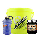 Scitec Jumbo 5500g High Protein Powder Mass Gainer Free Creatine +  Water Jug