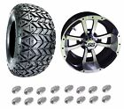 "Golf Cart 10"" Storm Trooper Wheels & 22"" DOT All Terrain Tires Set (4)"