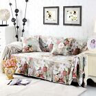 Canvas 100% Cotton Slipcover Sofa Cover tUSl for 1 2 3 4 seater Floral fqbh