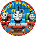 """EDIBLE Thomas the Tank Engine Train Cake Topper Wafer Paper Round 7.5"""" (uncut)"""