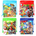 Plants vs Zombies Kids Drawstring Backpack Beach Birthday Party Goody Gifts Bag