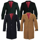 De La Creme - Men's Wool & Cashmere Blend Winter Coat Formal Security Overcoat