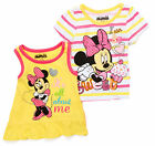 Disney Minnie Mouse Girls Toddler Tee Shirt Tank Top 2 Ps Girl Size  3T 4T Nwt