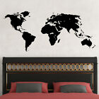 Wall Decal World Map Decal Sticker Bedroom Decor Interior Design Art Home MM239