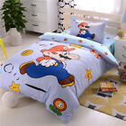 Super Mario Bros Cotton Bedding Set Bed Sheet Duvet Cover Pillowcase Twin/Full