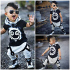 US Stock Fashion Kids Toddler Boys Tops T-shirt Harem Pants Outfits Set Clothes