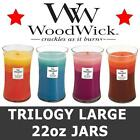 WoodWick Candles Scented Large Trilogy 22oz Jar Variety