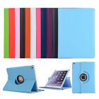 360 Rotating Slim Stand Folio Flip Wallet Leather Case Smart Cover For iPad