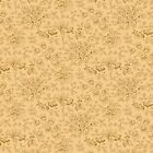 ESSEX - QUILTING TREASURES - DOTTED BUTTERSCOTCH FLORAL  - 100% cotton fabric