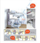Kitchen Storage Blind Corner Carousel 20KG Load Capacity Per Shelf