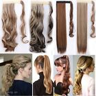 US 100% Real New Clip In human Hair Extension Pony Tail Wrap Around Ponytail F2t
