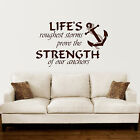 wall sayings decor - Anchor Wall Decal Quotes Nautical Sayings Wall Vinyl Sticker Bedroom Decor ZX142
