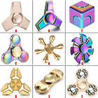 Tri Fidget Hand Spinner Triangle Brass Metal Rainbow Finger Toy EDC Focus ADHD