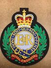 Small Royal Engineers Embroidered Biker Patch