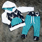Fashion Toddler Baby Boys Tops Hoodie Pants Home Outfits 2Pcs Set Clothes 0-4T c