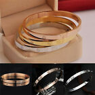 10K Gold-plated Stainless Steel Women's Cuff Bangle Jewelry Crystal Bracelet BM