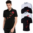 StylishMen's  Basic Lapel Tennis Golf T-Shirts Short Sleeve Polo Shirt Tee Tops