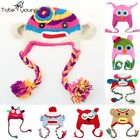 Knitted Baby Caps Kids Cartoon Owl Toddler Crochet Hats With Ear For Grils Boys
